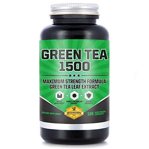 EGCG Green Tea Extract Supplement | Highest Potency 735mg Green Tea Extract Capsules For An All-Natural Metabolism Boost & Daily Energy | 120 Vegetarian Capsules Egcg Green Tea Leaf