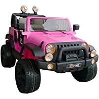 Jeep Style Electric Ride On Car 12V 2 Seats 2.4G Remote Control Pink