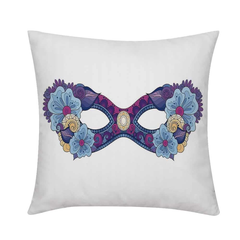 Amazon.com: TecBillion Masquerade Soft Throw Pillow,Colored ...