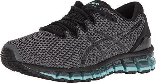 ASICS T889N Women's Gel-Quantum 360 Shift MX Running Shoe, Carbon/Black/Aruba Blue - 8
