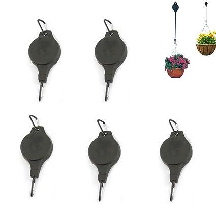 Amazon.com: Ajustable telescópico Plant gancho colgador ...
