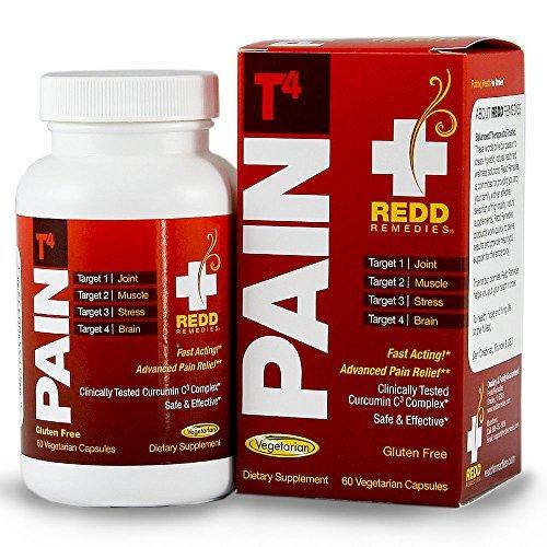 REDD remèdes douleur T4 - avancé de soulagement de la douleur - cibles douleur dans les Muscles et les articulations - action rapide - module de réponse au Stress - 60 Capsules végétariennes