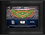 "San Diego Padres Framed 5"" x 7"" Stadium Collage with a Piece of Game-Used Baseball - MLB Team Plaques and Collages"