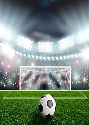 YongFoto 1,5x2,2m Vinilo Fondos Fotograficos Balón de Fútbol en ...