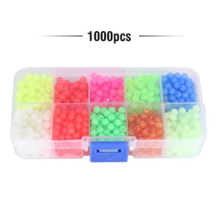Assorted Colour Plastic Rig Beads 5mm
