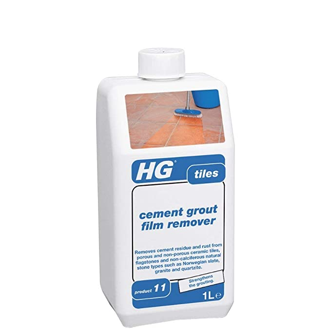 HG cement grout film remover 1L - the grout remover for all types of tiles  and flagstones
