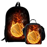Football Backpack for Boy School Bag for Teens Lunch Box Children Daypack