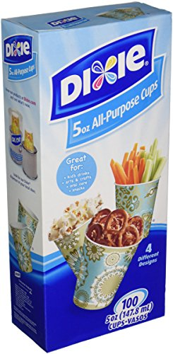 Dixie All Purpose Cups, 5 oz, 100 Count (Pack of 1)