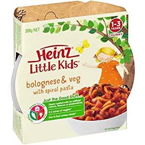 Heinz Little Kids Bolognese and Veg with Spiral Pasta Meal, 200g