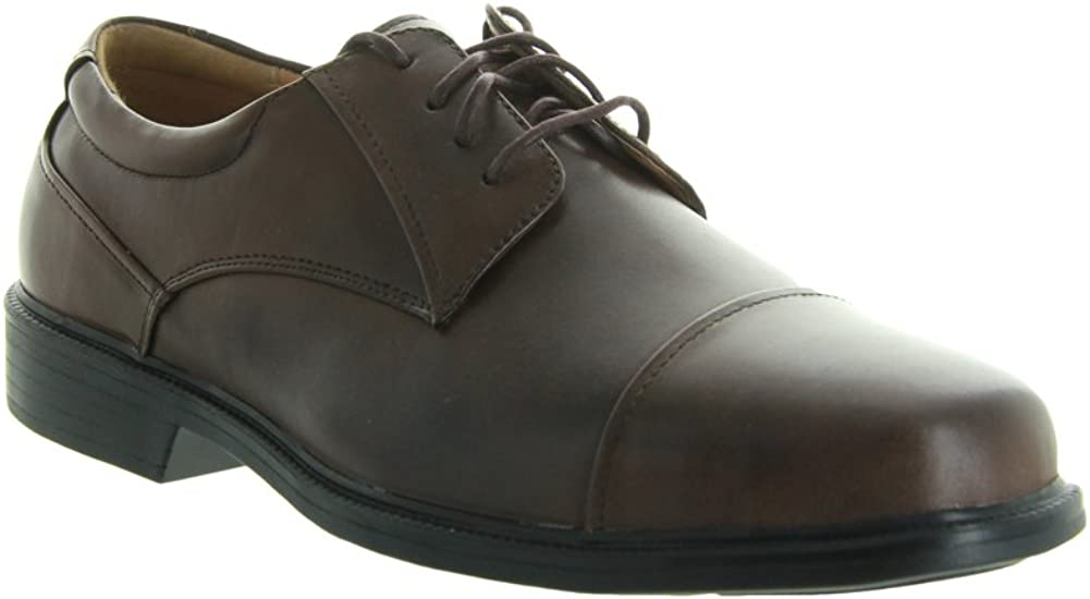 La Milano Mens Brown Leather Comfort Dress Shoes Wide EEE #A1718 13 EEE
