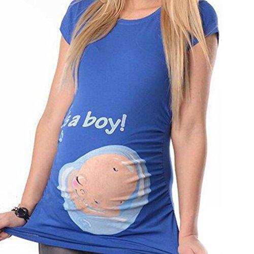 Aiweijia T-Shirt a Maniche Corte di maternit