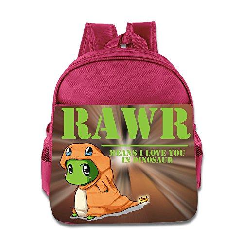 [KIDDOS Infant Toddler Kids RAWR Means I Love You In Dinosaur Backpack Satchel School Book Bag, Pink] (Odd Squad Costume)