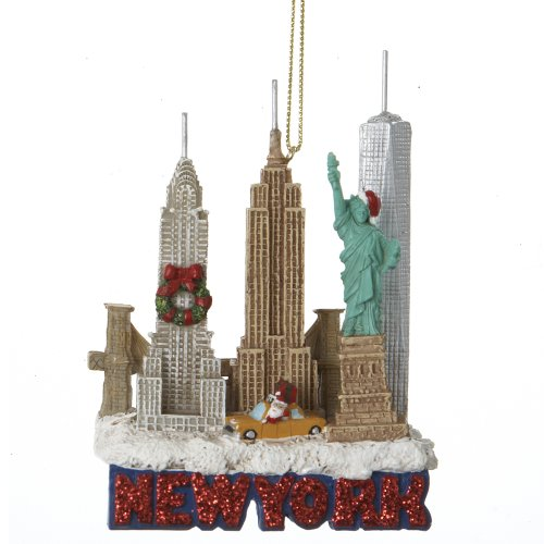 Kurt Adler City Travel New York City Ornament, 3.25-Inch