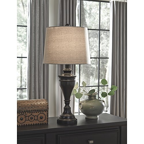 Ashley Furniture Signature Design - Darlita Table Lamps Set of 2 - Contemporary - Bronze Finish