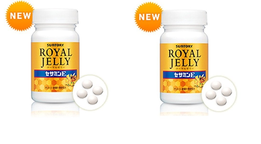 Suntory Royal Jelly + Sesamin E120 Tablets 30 Days×2bottles◆E-packet Estimated 5~10days◆