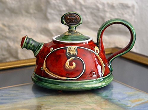 Teapot for One, Small Handmade Pottery Tea Pot. Cute Ceramic Gift, Clay Teapot, Ceramic Art, Danko Handmade Pottery, Gift for Loved One