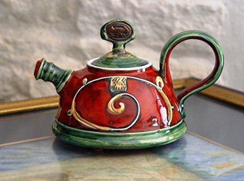 Teapot for One, Small Handmade Pottery Tea Pot. Cute Ceramic Gift, Clay Teapot, Ceramic Art, Danko Handmade Pottery, Gift for Loved One