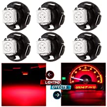 CCIYU 6pcs Red T4.7 Neo Wedge 5050 Led for A/C Climate Heater Control Bulbs Lamp Light Fits For 2001-2012 Dodge Ram 1500 Van Intrepid Dakota Caravan Grand Caravan Ram 5500 4500 3500 Van 3500