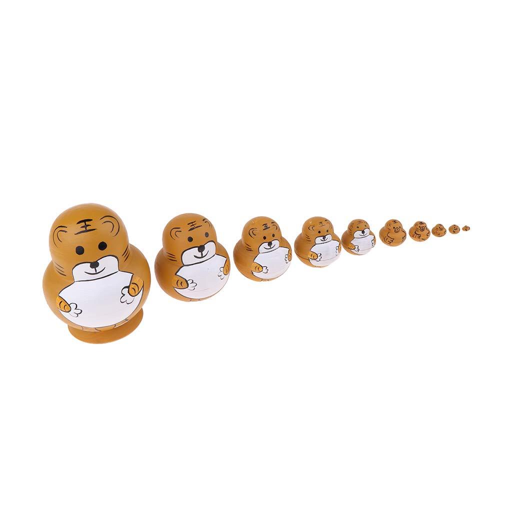 KESOTO Bambole Russe Artigianali Matrioska Babushka Regalo Natale Compleanno Giocattolo per Bambini