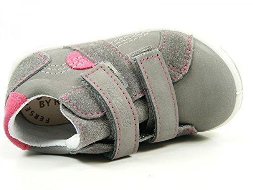 Ricosta 25-30100 Laif Mädchen Halbschuhe Sneaker Weite weit Sympatex Grau