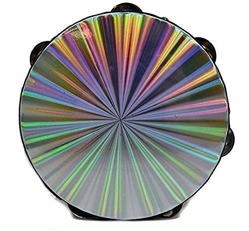 new-10-reflective-tambourine-double-row-jingle-percussion-instrument-church