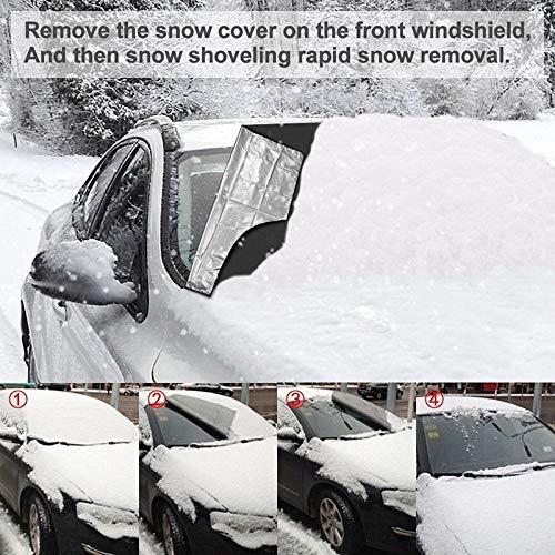Silver Domeilleur da Auto Magnetico Parabrezza Copertura antigelo Guard Winter Protector Screen Cover Small