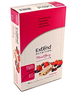Extend Bar, Mixed Berry, 1.41 oz. Bars (Pack of 15)