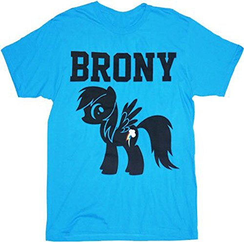 My Little Pony Brony Turquoise Blue Mens T-Shirt (Adult (My Little Pony Adults Clothes)