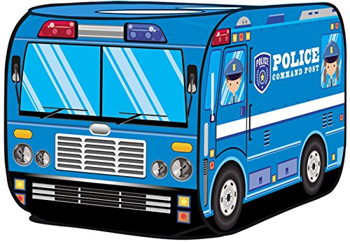 Kiddie Play Police Car Pop Up Play Tent for Kids