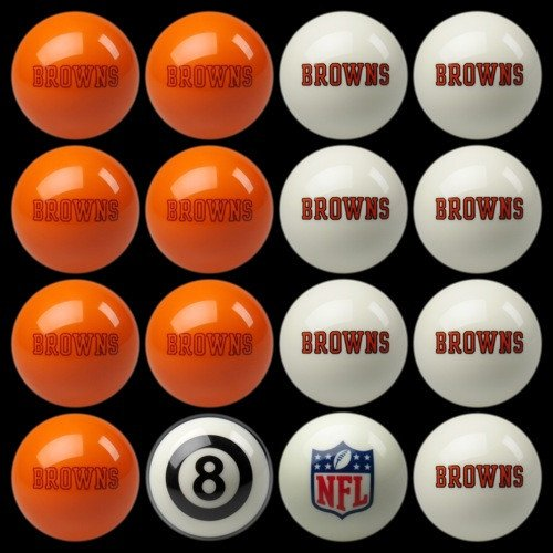 NFL Imperial Cleveland Browns Pool Billiard Ball Full Set ()