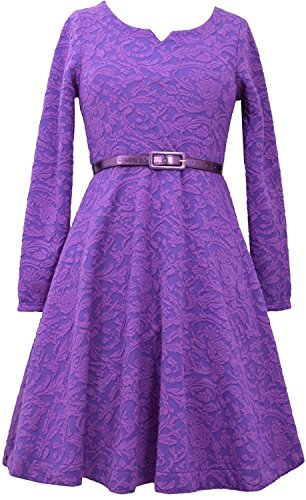 Buy belted jacquard dress - 3