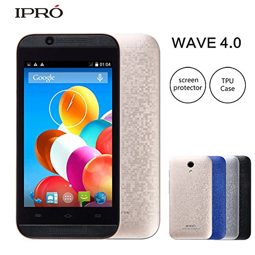 IPRO i9403 Smartphone 1.0g Dual Core Dual SIM 4.0 Inch LCD Screen No-contract Mobile Phone with Protective Film + TPU Case (Gold)