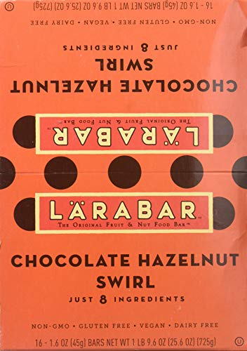 LÄRABAR Chocolate Hazelnut Swirl Caddie, 25.6 Ounce (Hazelnut Chips Chocolate)
