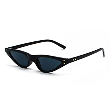 d0dac4d566c Cute Sexy Fashion Cat Eye Sunglasses Women Small Black Triangle Vintage Sun Glasses  Female Uv400: Amazon.co.uk: Clothing