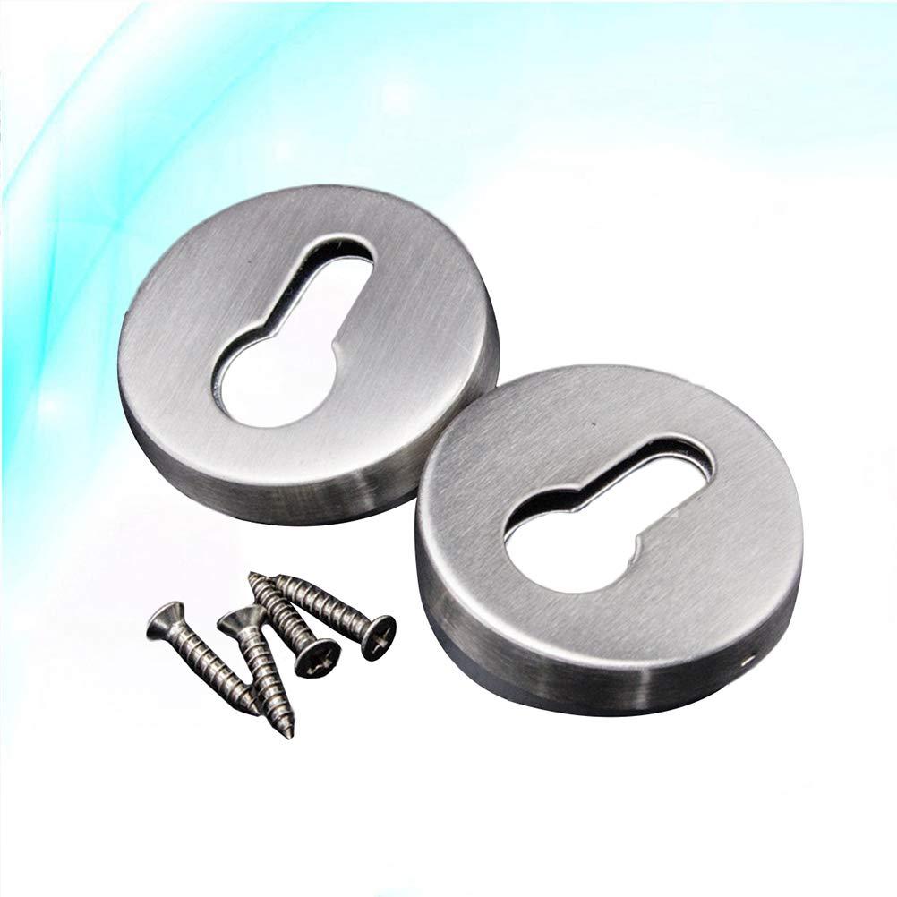 con 4 viti Set di 2 custodie per chiavi in acciaio INOX argento Bestonzon