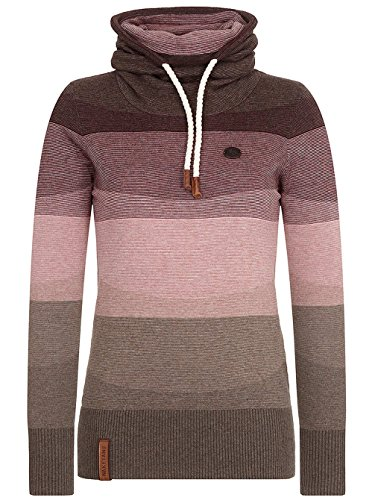 Naketano Joao Schmierao III Female Knit Brown Melange Striped, L