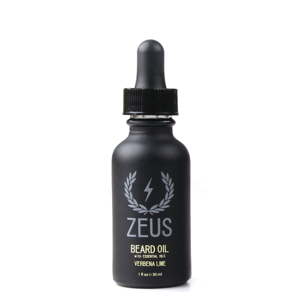 Zeus Beard Oil for Men - 1 oz - All-Natural Beard Conditioning Oil to Soften Beard and Mustache Hairs (Verbena Lime)