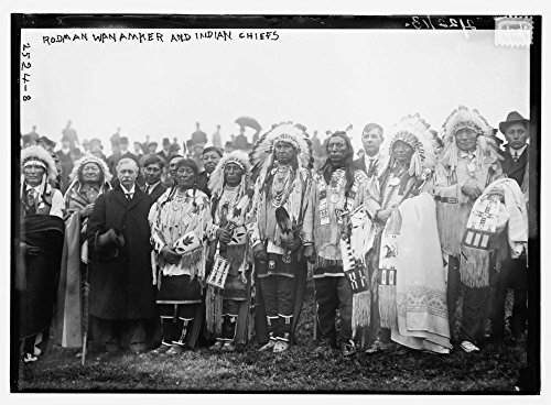 1913 Photo Rodman Wanamaker and Indian Chiefs Native American chiefs with Rodman Wanamaker (1863-1928) at the groundbreaking ceremony for the National American Indian Memorial (which was never (Native Indian Makeup)