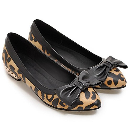 Shoes With Flats On Bows Pointed Brown Dress Low Driving Womens Cut Aisun Slip Toe Comfort wPa7qg