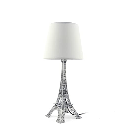 Decorative White Desk Table Bedside Lamp Shade, Eiffel Tower ...