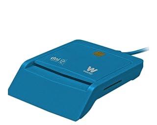 Woxter Lector Dni Combo - Lector DNI electrónico, compatible con las tarjetas Smart Cards o tarjetas inteligentes, con 3 ranuras para tarjetas , color azul