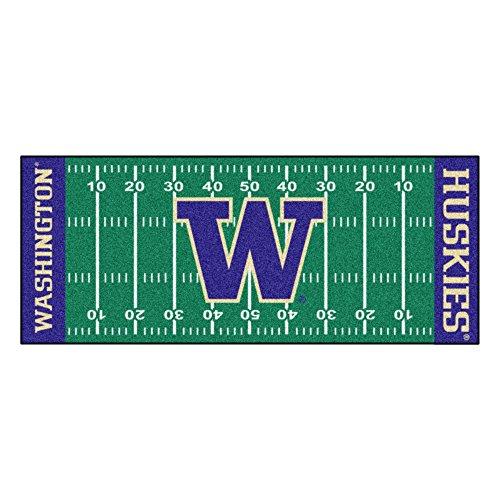 FANMATS NCAA University of Washington Huskies Nylon Face Football Field Runner ()