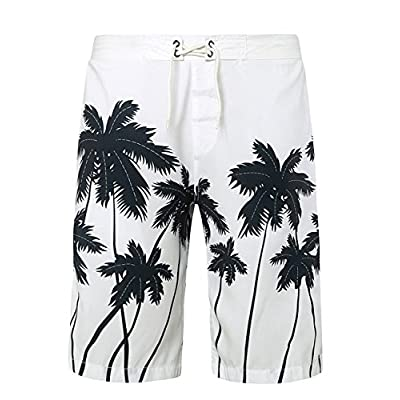 LETSQK Men\'s Beach Swimwear Runner Surf Tropical Palm Tree Swim Trunks for sale RooUu4cY