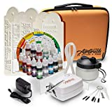 Airbrush Cake Decorating Kit - Watson & Webb Little Airbrush Including 11 Colors, Stencil, 3 x Airbrush Cleaning Solution and Pot, Cleaning Brushes & Case