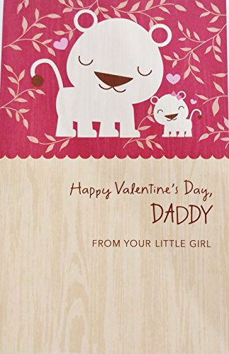 Happy Valentine's Day Daddy - From Your Little Girl - Greeting Card for Dad / Father -