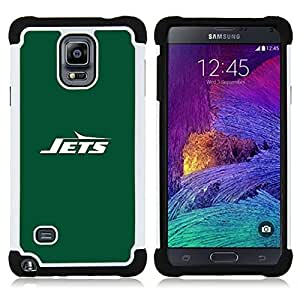 For Samsung Galaxy Note 4 SM-N910 N910 - JETS Dual Layer caso de Shell HUELGA Impacto pata de cabra con im????genes gr????ficas Steam - Funny Shop -