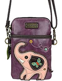 Crossbody Cell Phone Purse - Women PU Leather Multicolor...
