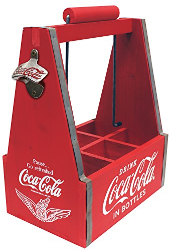 Leigh Country CP 98201 Six Coca-Cola Drink Caddy, Red