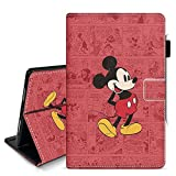 DC Faner iPad Pro 9.7 2017 2018 Case with Pencil Holder - Lightweight Soft PU Leather Cover and Stand Folio Shock Proof Cover Multi-Angle Viewing (Retro Mickey)