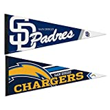 San Diego Chargers and Padres Premium Soft Felt Pennant Set - 2 Pack